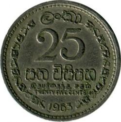 Moneta > 25centai, 1963-1971 - Ceilonas  - reverse
