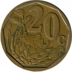 Coin > 20 cents, 2008 - South Africa  - obverse