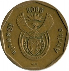 Coin > 20 cents, 2008 - South Africa  - reverse