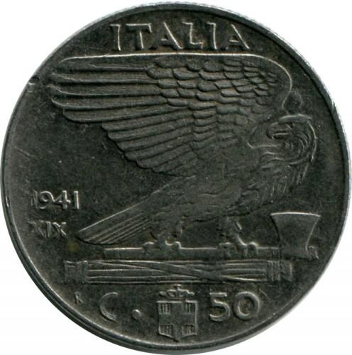 50 centesimi 1939 1943 italia km 76b catalogo for Moneta 50 centesimi