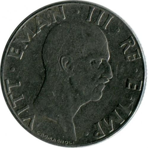 Italia 50 centesimi 1939 1943 km 76b catalogo for Moneta 50 centesimi