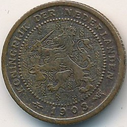 Munt > ½cent, 1903-1906 - Nederland  - reverse