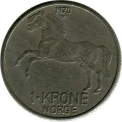 Coin > 1krone, 1958-1973 - Norway  - obverse