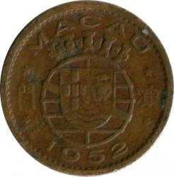 Moneta > 5avosai, 1952 - Makao  - reverse