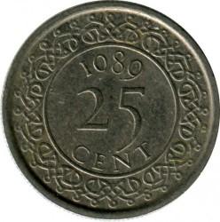 العملة > 25سنت, 1987-2015 - سورينام  - obverse
