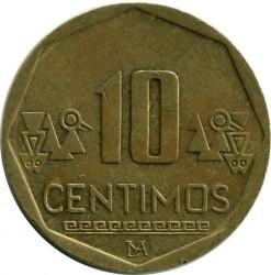سکه > 10سنتیمو, 2012 - پرو  - reverse