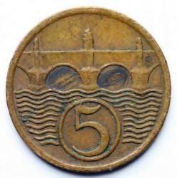 Кованица > 5хелера, 1932 - Чехословачка  - reverse