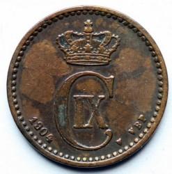 Moneda > 1öre, 1904 - Dinamarca  - obverse