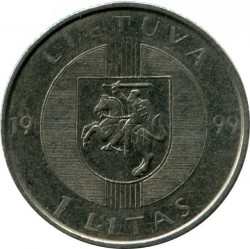 Монета > 1лит, 1999 - Литва  (10 лет Балтийскому пути) - obverse