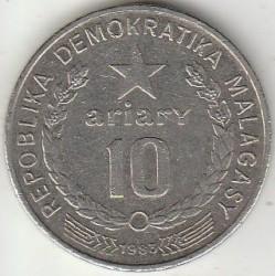 Кованица > 10ариариа, 1983 - Мадагаскар  - reverse