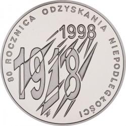 Moneda > 10zlotych, 1998 - Polonia  (80 aniversario - Independencia de Polonia) - reverse