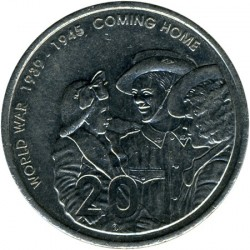 سکه > 20سنت, 2005 - استرالیا  (60th Anniversary - End of World War II) - reverse