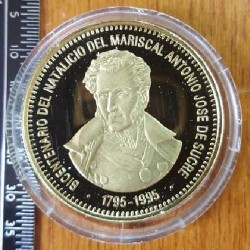 Монета > 5000боливара, 1995 - Венецуела  (200th Anniversary - Birth of Antonio José de Sucre) - obverse