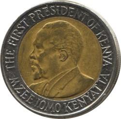Монета > 20шиллингов, 2005-2010 - Кения  - obverse