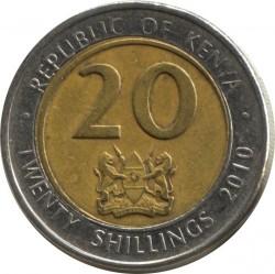 Монета > 20шиллингов, 2005-2010 - Кения  - reverse