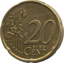 Moneda > 20céntimos, 1999-2006 - Países Bajos  - reverse