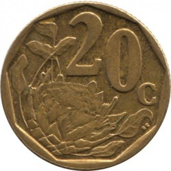 Coin > 20 cents, 2007 - South Africa  - reverse