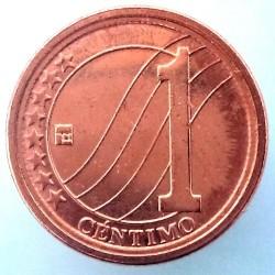Монета > 1сентимо, 2007-2009 - Венецуела  - reverse