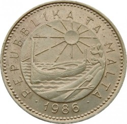 מטבע > 1סנט, 1986 - מלטה  - obverse