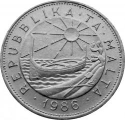 Монета > 1лира, 1986 - Мальта  - obverse