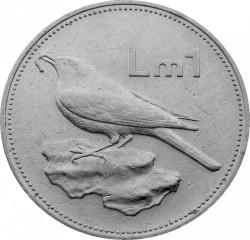 Монета > 1лира, 1986 - Мальта  - reverse