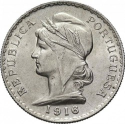 Монета > 1ескудо, 1915-1916 - Португалия  - reverse