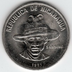 錢幣 > 25分, 1981-1985 - 尼加拉瓜  - reverse