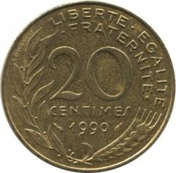 Moneda > 20céntimos, 1990 - Francia  - reverse