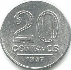 Coin > 20centavos, 1956-1961 - Brazil  - reverse