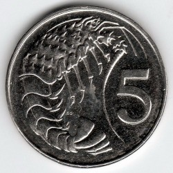 Coin > 5cents, 1999-2013 - Cayman Islands  - reverse