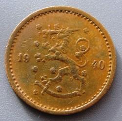 Münze > 50Penny, 1940 - Finnland  (Copper /brown color/) - obverse