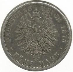 Minca > 5mark, 1874-1876 - Nemecká ríša  - reverse
