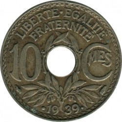 Moneda > 10centimes, 1938-1939 - França  - obverse