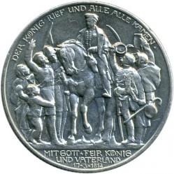 Moneda > 2marcos, 1913 - Alemán (Imperio)  (100º Aniversario - Declaración de Guerra a Francia) - obverse