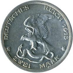 Moneda > 2marcos, 1913 - Alemán (Imperio)  (100º Aniversario - Declaración de Guerra a Francia) - reverse