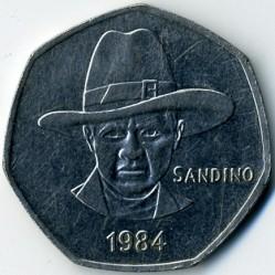 Moeda > 5cordobas, 1984 - Nicarágua  - obverse