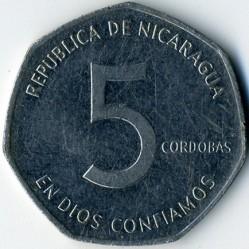 Moeda > 5cordobas, 1984 - Nicarágua  - reverse