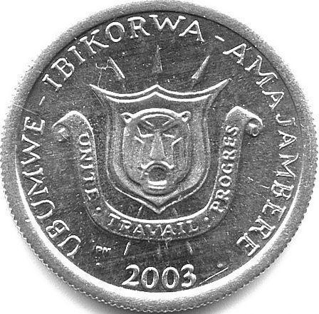 1 Frank 1976 2003 Burundi Km 19 Katalog Monet