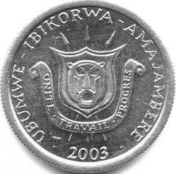 Монета > 1франк, 1976-2003 - Бурунди  - obverse