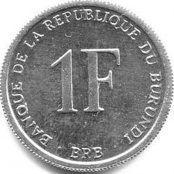Монета > 1франк, 1976-2003 - Бурунди  - reverse