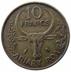 Mynt > 10francs, 1970-1989 - Madagaskar  - reverse
