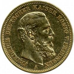 Moneda > 20marcos, 1888 - Alemán (Imperio)  (Federico III) - obverse