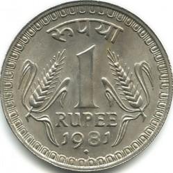 Mynt > 1rupi, 1980-1982 - India  - reverse