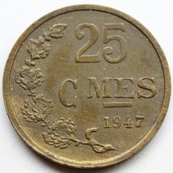 מטבע > 25סנטים, 1946-1947 - לוקסמבורג  - reverse