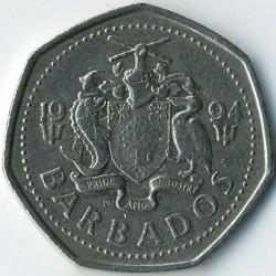 Монета > 1долар, 1988-2005 - Барбадос  - reverse