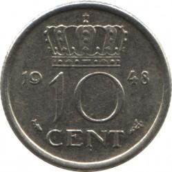 Munt > 10cents, 1948 - Nederland  - reverse