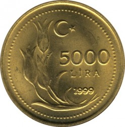 Moneta > 5.000lir, 1998-2001 - Turcja  - reverse