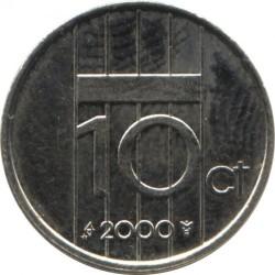 Кованица > 10центи, 1982-2001 - Холандија  - reverse