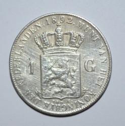 Munt > 1gulden, 1892-1897 - Nederland  - reverse