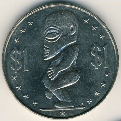 Moneta > 1dollaro, 1972-1983 - Cook (Isole)  - reverse